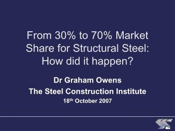 From 30% to 70% Market Share for Structural Steel: How did it ...