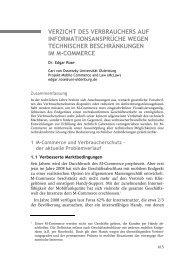 Rose, Verzicht des Verbrauchers auf Informationsansprüche wegen ...