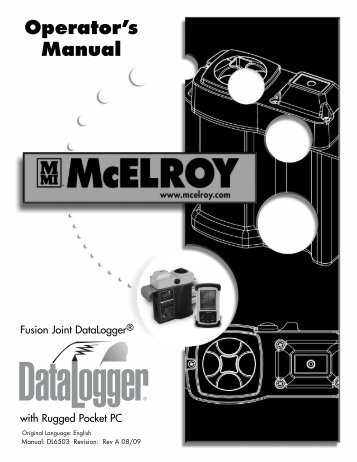 Set-up Recon - McElroy Manufacturing, Inc.