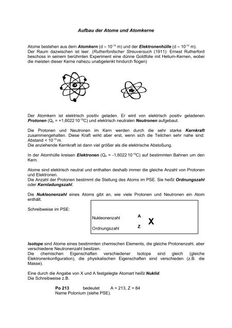 Atom- und Kernphysik