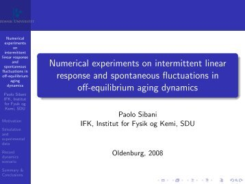 Numerical experiments on intermittent linear response and ...