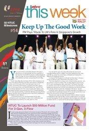 Keep Up The Good Work - NTUC