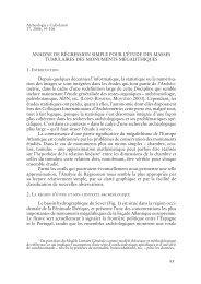ANALYSE DE RÉGRESSION SIMPLE POUR L'ÉTUDE DES ... - Serit