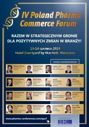 IV Poland Pharma Commerce Forum - Blue Business Media