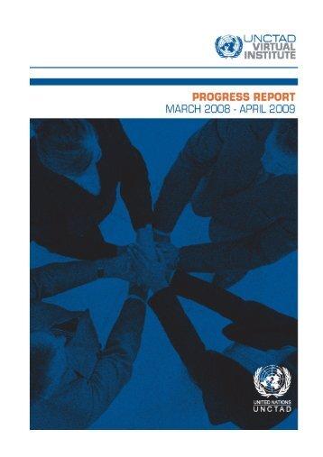 Virtual Institute Activity Report 2008-2009 - UNCTAD Virtual Institute