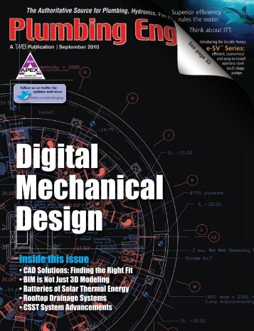 Inside this issue - Plumbing Engineer