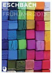 Vorschau Bücher Frühjahr 2013 - Verlag am Eschbach