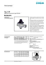 Fiche technique Fig. 5 SP - SOCLA