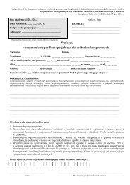 Wniosek o przyznanie stypendium specjalnego dla osób ...