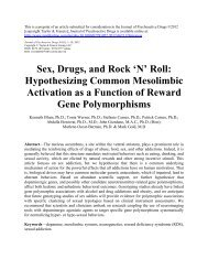 Sex, Drugs, and Rock 'N' Roll: Hypothesizing Common ... - IITAP