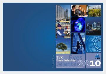 TVK Éves jelentés 2010 (pdf, 2.7 MB)