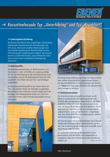 """Kassettenfassade Typ """"Unterföhring"""" und Typ """"Frankfurt ..."""