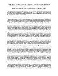Všeobecné obchodní podmínky pro zákaznickou bauMax kartu