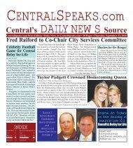 Central's DAILY NEWS Source - CentralSpeaks.com
