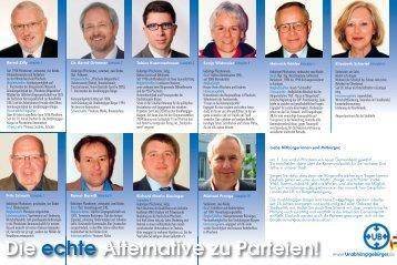 Die echte Alternative zu Parteien! - bei den Unabhängigen Bürgern