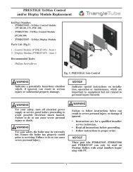 PRESTIGE TriMax Control and/or Display Module ... - Triangle Tube