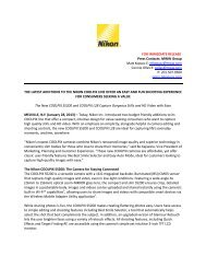 FOR IMMEDIATE RELEASE Press Contacts: MWW Group Matt ...