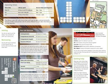 Student Guide - University of Leicester
