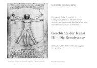 Allgemeine Einführung - KIT - IKB - Fachgebiet Kunstgeschichte