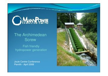 The Archimedean Screw