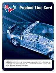Product Line Card - CARQUEST Auto Parts