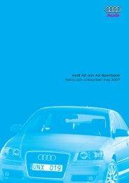 Audi A3 och A3 Sportback Fakta och cirkapriser maj 2007 - H-kan.se