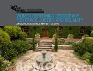 women redefining democracy for peace, justice and equality