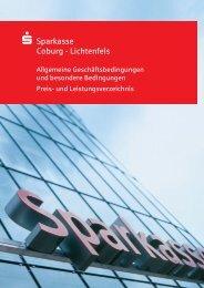 Preis- und Leistungsverzeichnis - Sparkasse Coburg - Lichtenfels