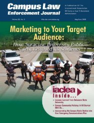 May/June 2008 Campus Law Enforcement Journal - IACLEA