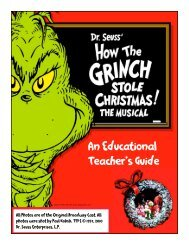 An Educational Teacher's Guide - Citi Performing Arts Center