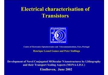 Electrical characterisation of Transistors - Stallinga.org