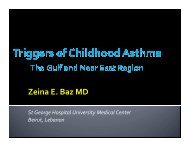 Triggers of Childhood Asthma - Baz - World Allergy Organization