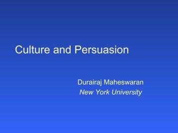 Culture and Persuasion