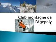 télécharger la présentation du club - Club Montagne EPFL