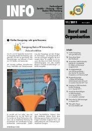 Beruf und Organisation - Fachverband Sanitär Heizung Klima ...