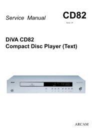 DiVA CD82 Compact Disc Player (Text) Service Manual