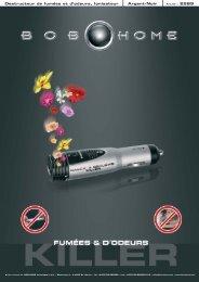 Destructeur de fumées et d'odeurs, Ionisateur Argent ... - BOB HOME
