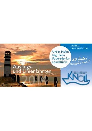 Angebote und Preise 2014 (PDF) - Schifffahrt Knoll