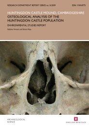 huntingdon castle mound, cambridgeshire ... - English Heritage