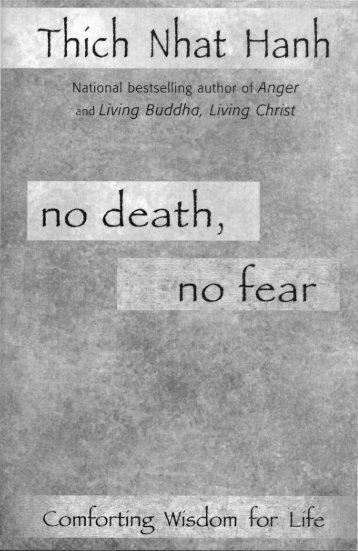 Thich Nhat Hanh - No Death, No Fear