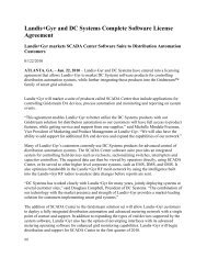 Landis+Gyr and DC Systems Complete Software License Agreement