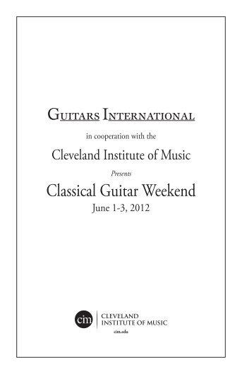 2012 Classical Guitar Weekend Program - Guitars International