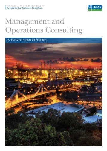Management and Operations Consulting - DNV Kema