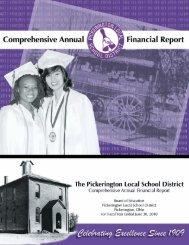 2010 CAFR - Pickerington Local School District