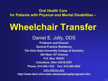 Wheelchair Transfer - WheelchairNet