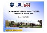 e - Groupe Français d études et d applications des Polymères