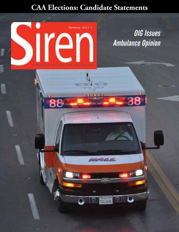 OIG Issues Ambulance Opinion - California Ambulance Association
