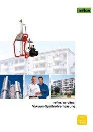 reflex 'servitec' Vakuum-Sprührohrentgasung