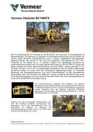 Technische Daten BC1400TX - Vermeer Deutschland GmbH