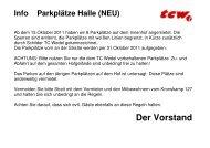 Info Parkplätze Halle (NEU) - Tennisclub Wedel
